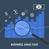 Иллюстрация концепции анализа возможностей производства и сбыта Стоковые Изображения RF