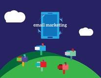 Иллюстрация концепции вектора маркетинга электронной почты Стоковые Изображения RF