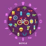 Иллюстрация концепции велосипеда бесплатная иллюстрация