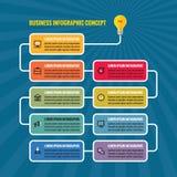 Иллюстрация концепции дела Infographic Лампочка - творческие знамена процесса идеи Стоковое Изображение