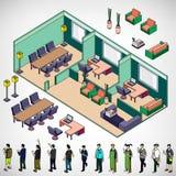 Иллюстрация концепции комнаты информации графической внутренней Стоковые Фото
