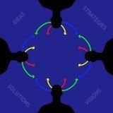 Иллюстрация концепции метода мозгового штурма команды дела Стоковое Изображение