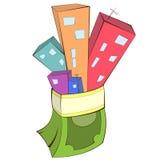 Иллюстрация концепции недвижимости Стоковые Фотографии RF