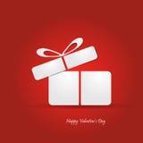 Иллюстрация концепции дня валентинки с подарочной коробкой Стоковые Фотографии RF