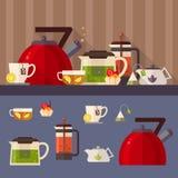 Иллюстрация концепции чаепития Стоковое фото RF