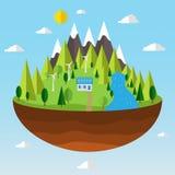 Иллюстрация концепции экологичности зеленой энергии Стоковая Фотография