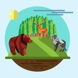 Иллюстрация концепции экологичности плоская Стоковые Фото