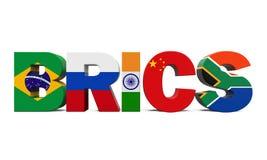 Иллюстрация концепции BRICS Стоковые Фото