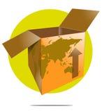 Иллюстрация коробки доставки иллюстрация штока