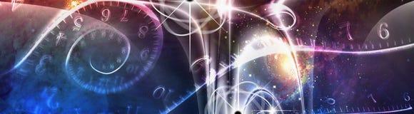 Иллюстрация космического времени Стоковые Фотографии RF