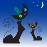Иллюстрация котов Стоковые Изображения RF