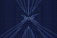 Иллюстрация кода двоичных данных Стоковое фото RF