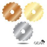 иллюстрация 3 красивейшей габаритной шестерни 3d графическая Стоковая Фотография