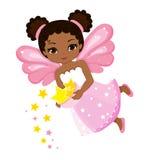 Иллюстрация красивой феи которое разбрасывает звезды Стоковые Изображения RF