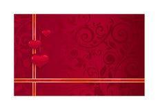 Иллюстрация - красная карточка свадьбы Стоковые Фотографии RF