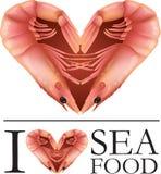 Я люблю морепродукты бесплатная иллюстрация