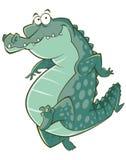 Иллюстрация крокодила шаржа Стоковое фото RF