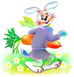 Иллюстрация кролика держа морковь, изображение шаржа вектора бесплатная иллюстрация