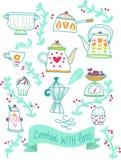 Иллюстрация кухни рецептов ретро Стоковая Фотография