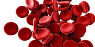 Иллюстрация клеток крови пропуская в вене или артерии бесплатная иллюстрация