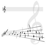 Иллюстрация ключа скрипки и вектора примечаний Стоковое Фото