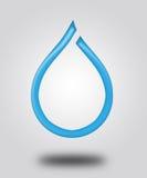 Иллюстрация. Логотип - падение воды. иллюстрация вектора