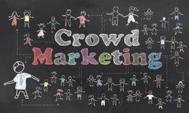 Иллюстрация маркетинга толпы Стоковое Изображение