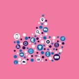 Иллюстрация маркетинга цифров плоская Стоковые Изображения