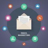 Иллюстрация маркетинга электронной почты. Стоковое Изображение RF