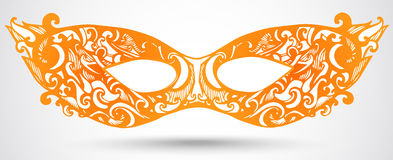 Иллюстрация маски масленицы. Элемент дизайна вектора для приглашения Иллюстрация штока