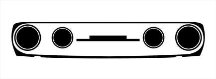 Иллюстрация маски Skoda Стоковые Изображения