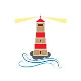 Иллюстрация маяка Стоковые Фото