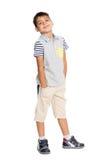 иллюстрация мальчика замыкает накоротко вектор Стоковое Изображение