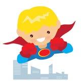 Иллюстрация мальчика супергероя Стоковая Фотография RF