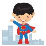 Иллюстрация мальчика супергероя Стоковое Фото
