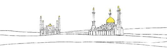 Иллюстрация мечети Стоковое фото RF