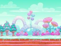 Иллюстрация мира фантазии сладостная Стоковое фото RF