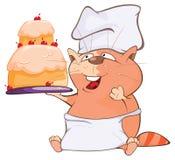 Иллюстрация милого кота головка дерзких милых собак персонажа из мультфильма предпосылки счастливая изолировала белизну усмешки Стоковое Фото