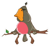 Иллюстрация милого попугая головка дерзких милых собак персонажа из мультфильма предпосылки счастливая изолировала белизну усмешк Стоковая Фотография RF