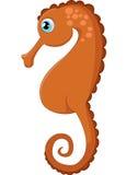 Иллюстрация морского конька шаржа Стоковая Фотография RF