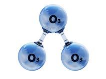 Иллюстрация модельной молекулы озона Стоковые Изображения