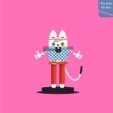 Иллюстрация моды кота Стоковые Фото