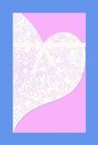 Иллюстрация - мягкая розовая карточка свадьбы Стоковые Фотографии RF