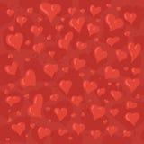 Иллюстрация нарисованная рукой различных симпатичных сердец Стоковые Фото