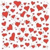 Иллюстрация нарисованная рукой различных симпатичных сердец Стоковые Фотографии RF