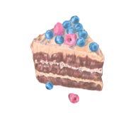 Иллюстрация нарисованная рукой торта иллюстрация штока