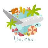 Иллюстрация на каникулах в минималистичном стиле Стоковая Фотография