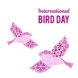 Иллюстрация на международный день птицы Космос для текста Стоковое Изображение