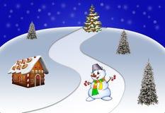 Иллюстрация на праздники Нового Года Стоковая Фотография RF