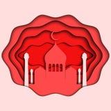 Иллюстрация на теме счастливого Рамазана Mubarak, 3d Стоковые Изображения RF